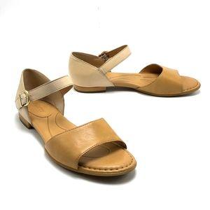 BORN Cairo d'Orsay Flat Sandal Neutral 2 Tone 8M